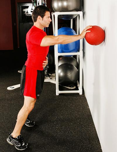 Strength ball training with Lorne